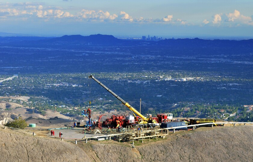 Southern California Gas Co.'s Aliso Canyon storage facility