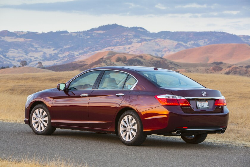 CarInsurance.com determined that a neighborhood in Detroit had the highest car insurance rates in the country, by using statistics for insuring a 2014 Honda Accord. Above, the Accord EX-L V-6 sedan.