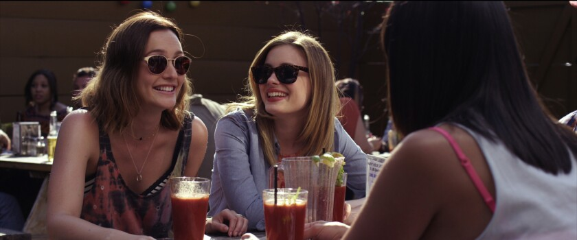 """Leighton Meester and Gillian Jacobs in """"Life Partners."""""""