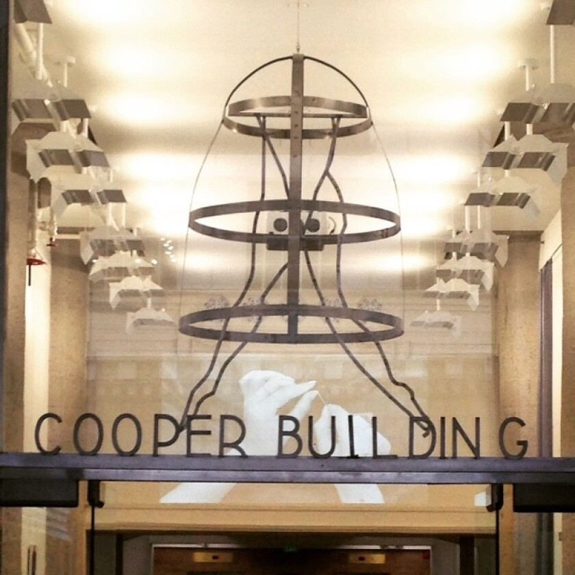 """Kimberly Brooks' welded steel sculpture, """"Ephemerality of Manner,"""" will remain permanently in The Cooper Building in downtown L.A.'s fashion district."""
