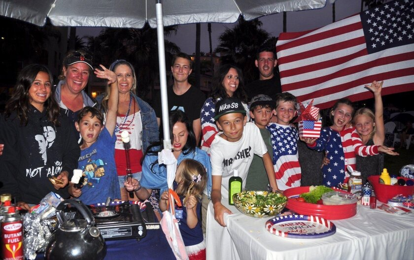Family and friends gather to celebrate the Red, White and Blue!