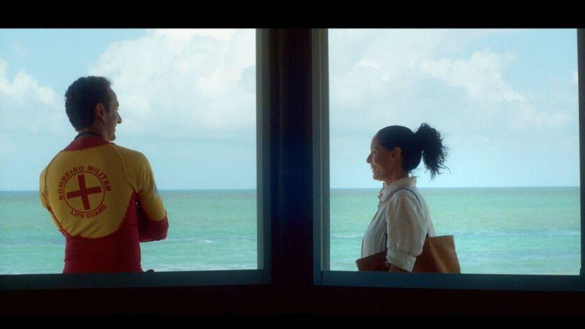 """Irandhir Santos as Roberval and Sonia Braga as Clara in """"Aquarius."""""""