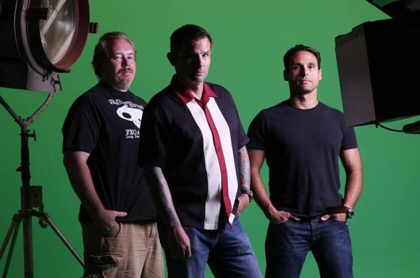 """Kelly Parks (left), Vernon Mortensen (center) and Neil Trusso are the minds behind Unconventional Films. Their popular web series """"Universal Dead"""" has landed them a major movie deal."""