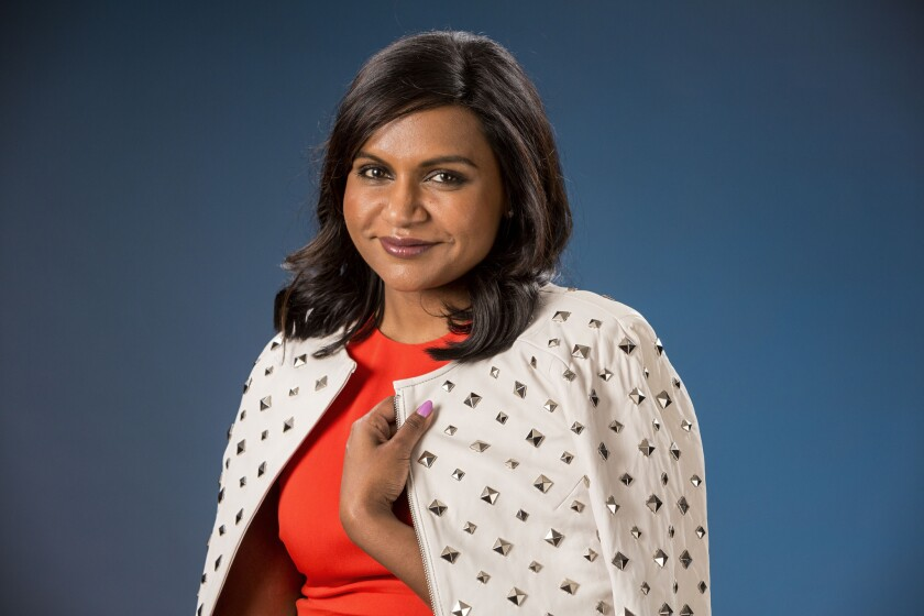 "Mindy Kaling of ""The Mindy Project"" photographed in the Los Angeles Times studio on June 10, 2014."