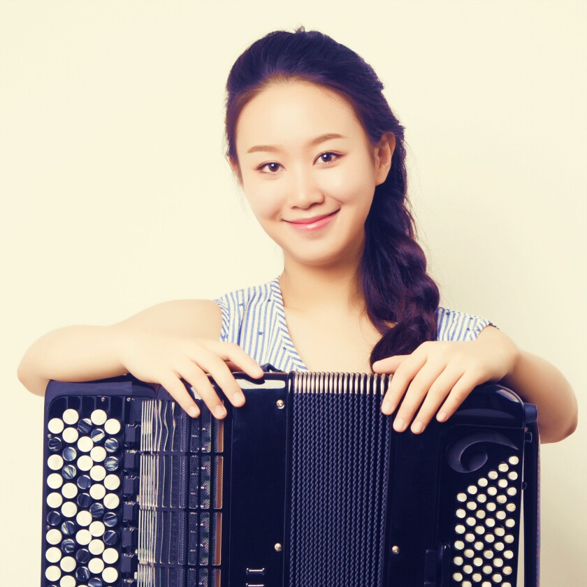Accordion virtuoso Hanzhi Wang is La Jolla-bound.