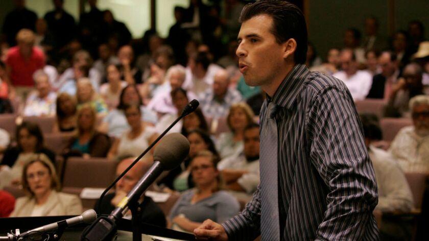 American Children First founder Joseph Turner speaking at a 2006 San Bernardino City Council meeting.