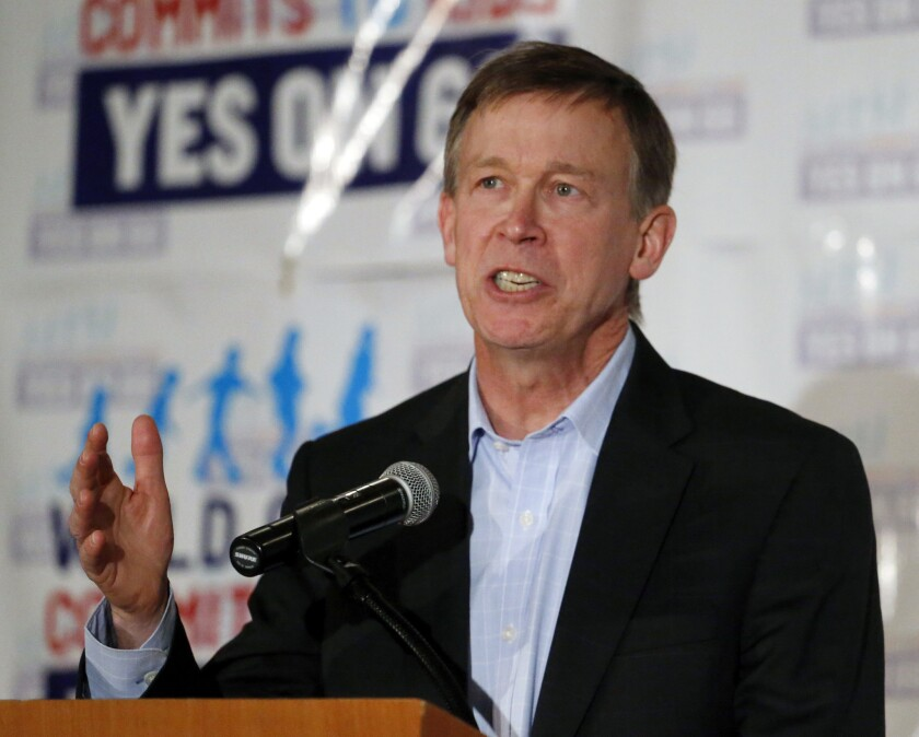 Colorado Gov. John Hickenlooper was conciliatory after voters in rural northern Colorado dealt a blow to secession efforts. The Democrat opposed the movement but expressed sympathy for rural voters' concerns.