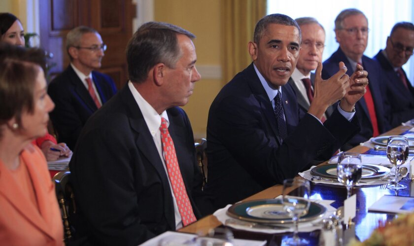 Obama meets with bipartisian congressional leadership
