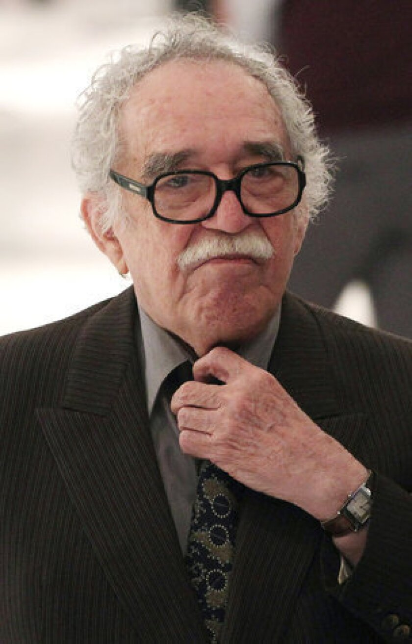 Author Gabriel Garcia Marquez at the Soumaya Museum in Mexico City in 2011.