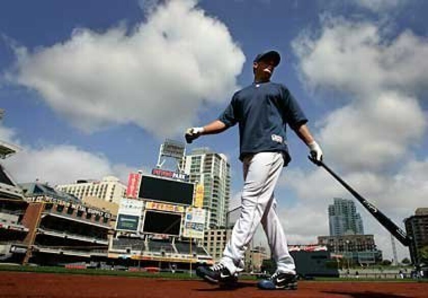 The venue will be Petco Park, but a patch of ground in Alabama or Mississippi would be just as suitable for the Padres-Astros game tonight that will open San Diego's 40th season of major league baseball. Photo by K.C. Alfred/San Diego Union-Tribune