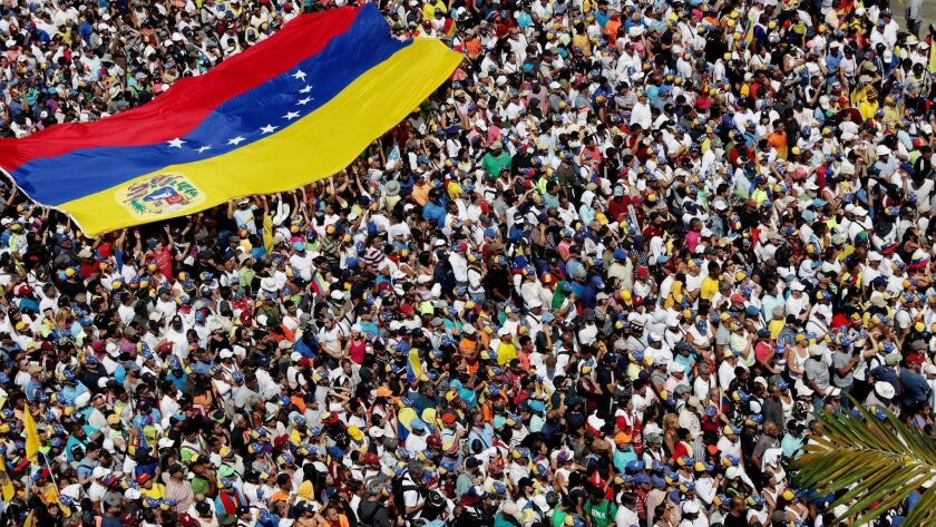 Protest against Maduro's Government, in Caracas, Venezuela - 02 Feb 2019