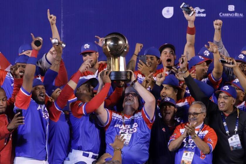 El gobernador de Puerto Rico, Ricardo Rosselló, recibió hoy en La Fortaleza, sede del ejecutivo, al equipo de los Criollos de Caguas de la isla, quienes la semana pasada se coronaron por segundo año seguido en la Serie del Caribe de Béisbol, convirtiéndose en el tercer equipo en la historia que lo consigue. EFE/ARCHIVO