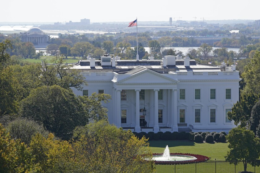 A view of the White House in Washington, Tuesday, Nov. 3, 2020, on election day. (AP Photo/Susan Walsh)