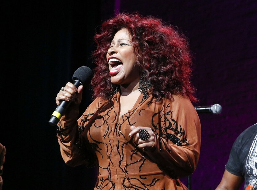 Chaka Khan (above) will perform in San Diego this summer on a double-bill with fellow singer Macy Gray.