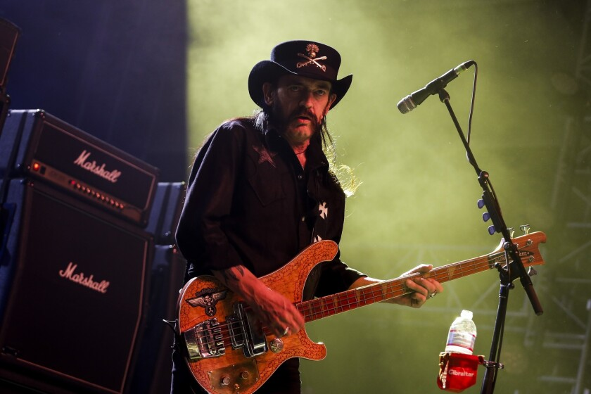 Lemmy Kilmister, lead singer of Motorhead, performs at the Coachella Music and Arts Festival in April.