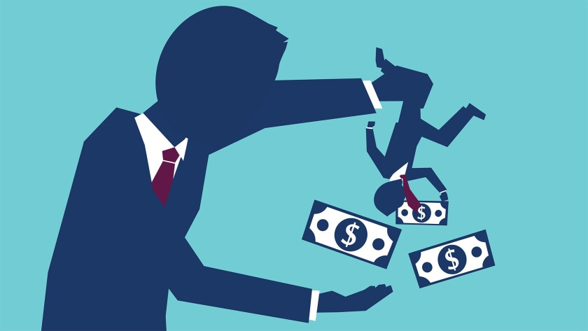 Debt collector illustration
