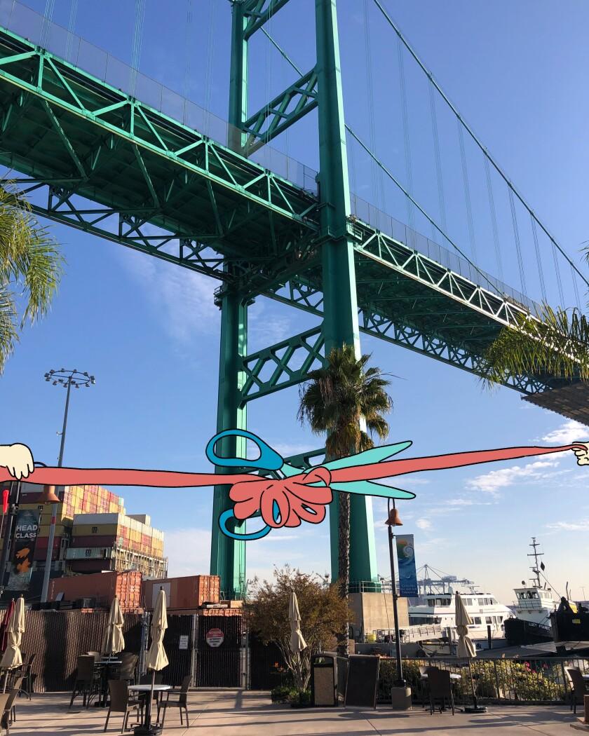 The Vincent Thomas Bridge in San Pedro.