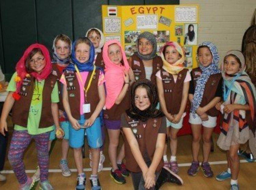 Brownie Troop 3013, Solana Vista Elementary, who presented Egypt