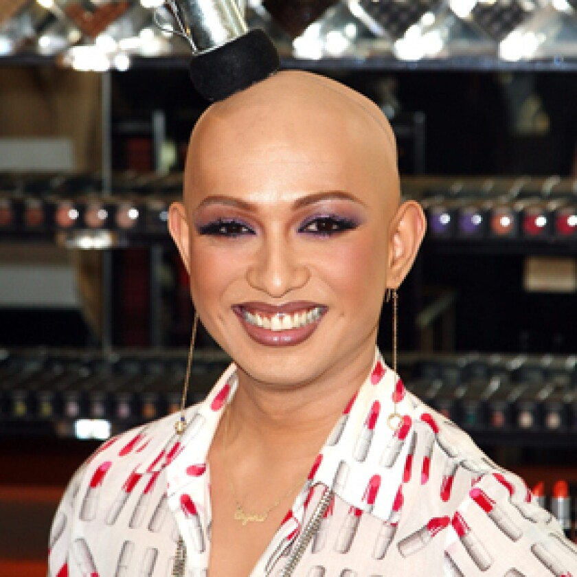 """JAUNTY: RuPaul is two-thirds through the run of """"Drag Race"""" on Logo, but previous episodes are on the website. The show's contestant Ongina is pictured."""