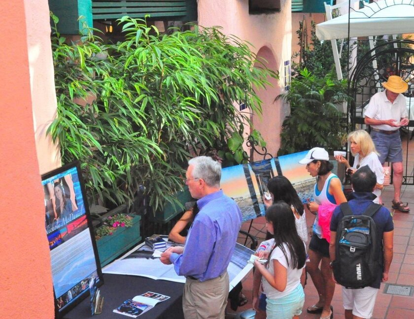Art pops up throughout the Village for La Jolla Nights.