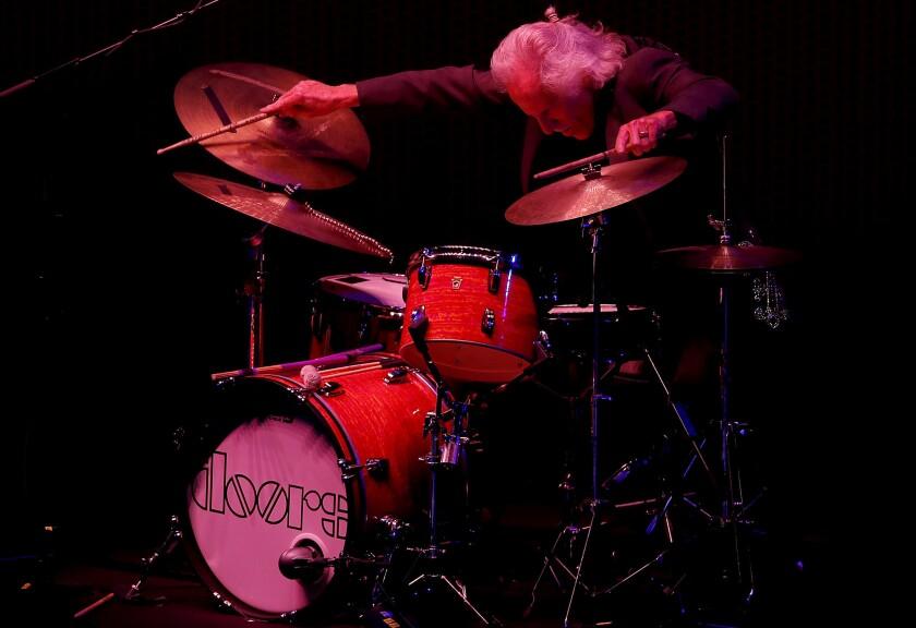 LOS ANGELES, CALIF. - SEP. 28, 2018. John Densmore, drummer of the legendary rock band the Doors,