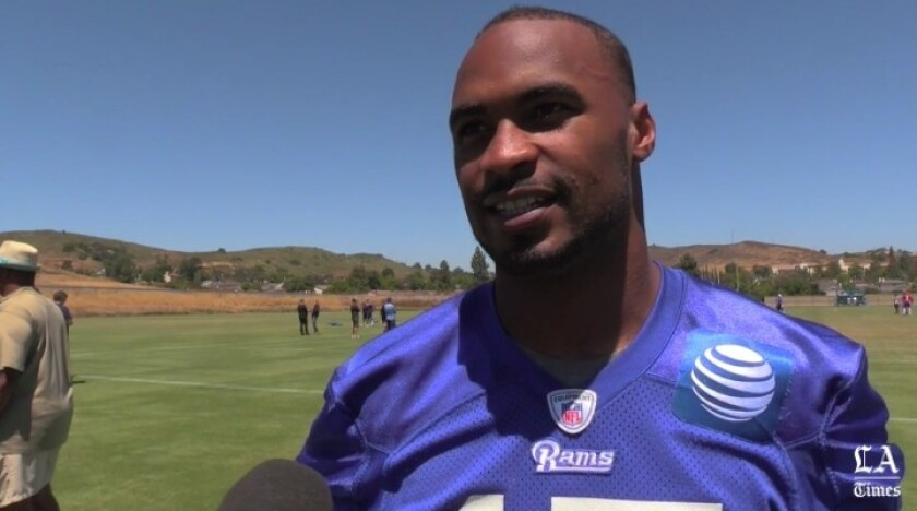 Former Gardena Serra receiver Robert Woods of the Rams is one of seven former Serra players on NFL rosters.