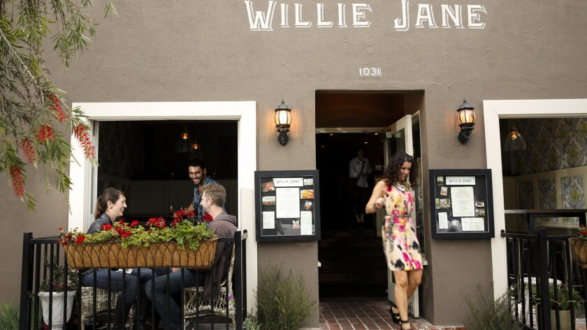 Willie Jane restaurant, on Abbot Kinney Boulevard, has closed.
