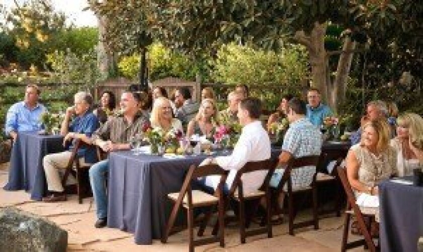"""Guests enjoy the July Summer Supper Club evening. The August event is themed """"An Evening of Art and Jazz,"""" and tickets are on sale now at the Rancho Santa Fe Community Center. Courtesy photo"""
