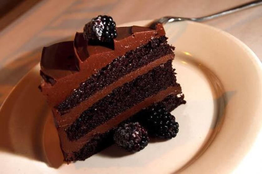 Chocolate cake, though not Mae-mae's. Start mixing and baking!