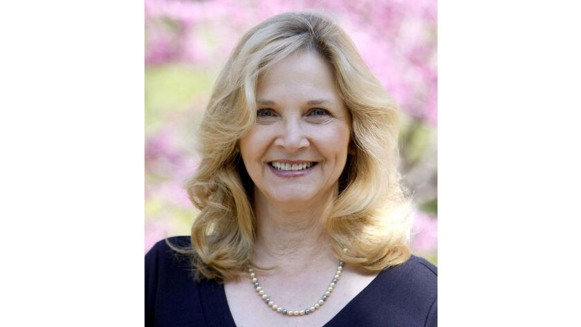 """Vicki Schwartz, founder and president of the La Cañada Flintridge Sister Cities Assn., seen here in 2017, has been named by the Kiawnis Club of La Cañada as """"2018 La Cañadan of the Year"""" and will be honored in an April 24 ceremony at Descanso Gardens."""