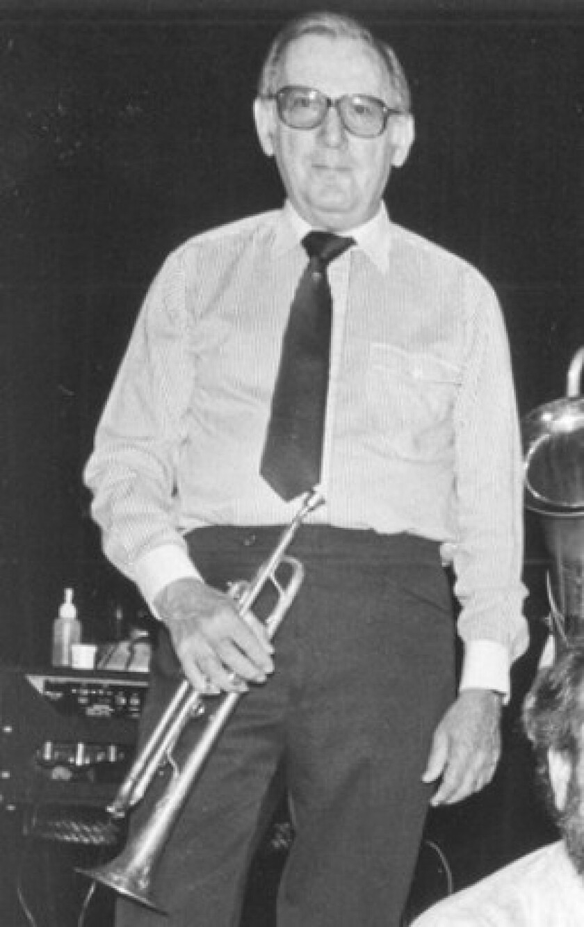 "Rubin ""Zeke"" Zarchy played the violin in his youth and switched to the trumpet in his early teens. He played well into the 1980s as a member of the Great Pacific Jazz Band."