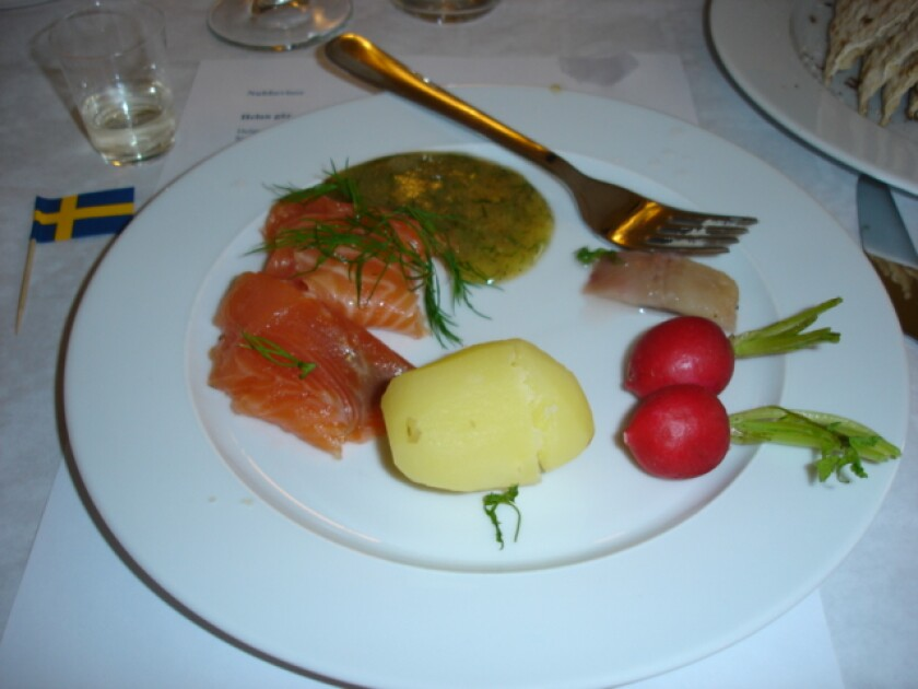 My first husband introduced me to the wonderful world of smoked salmon and gravlax. — Inga