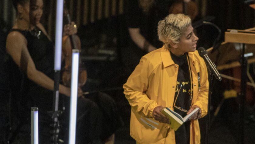 As part of LA Phil's Fluxus festival, Kiran Gandhi, who performs as Madame Gandhi, reads Yoko Ono's