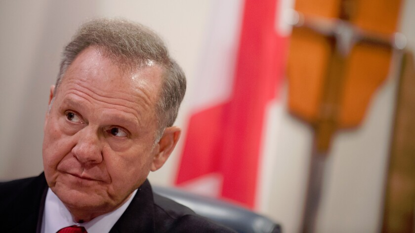 Alabama Chief Justice Roy Moore in January.