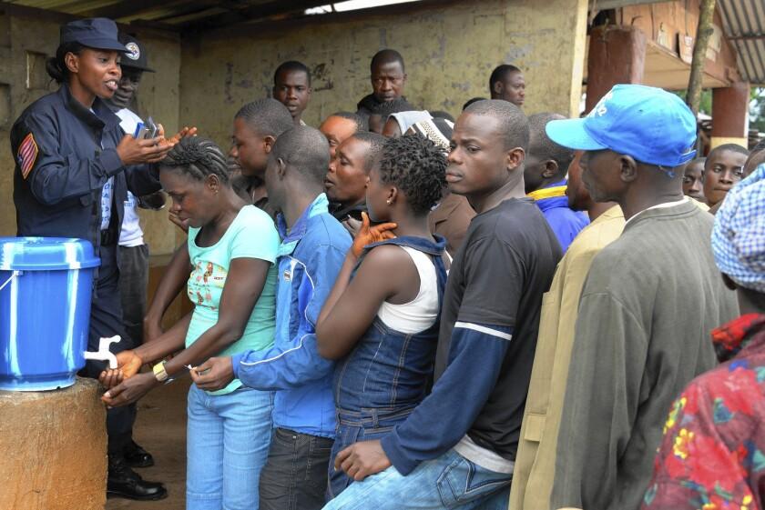 Ebola meeting in Dolo Town, Liberia