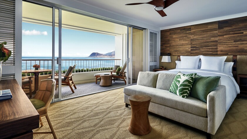 Nearly all of the hotel's rooms face the ocean. The resort is offering a Fourth Night Free special through Dec. 19.