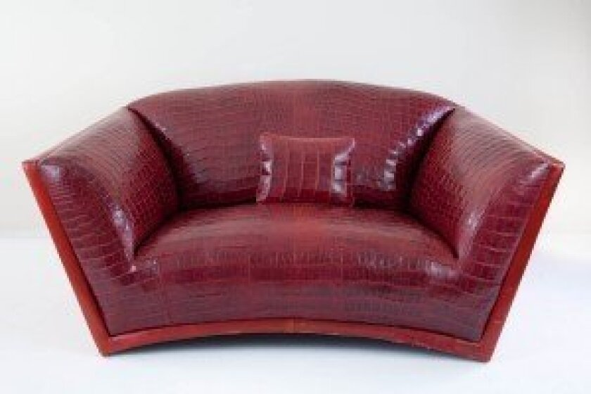 This Claude Jitrois Nile Crocodile sofa will be auctioned off at McNally's fall auction on Sunday, Nov. 16. Courtesy photo