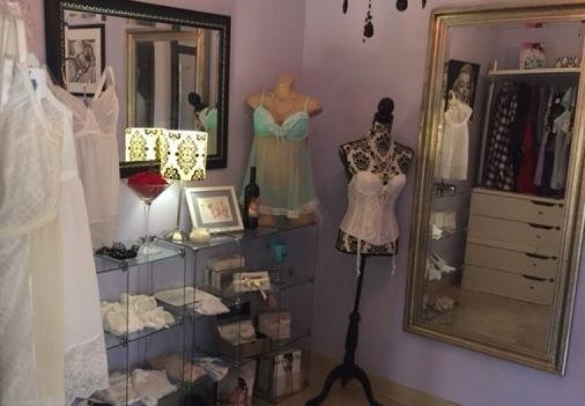 Undergarments and lingerie come in all shapes and sizes at The Enchantress boutique.