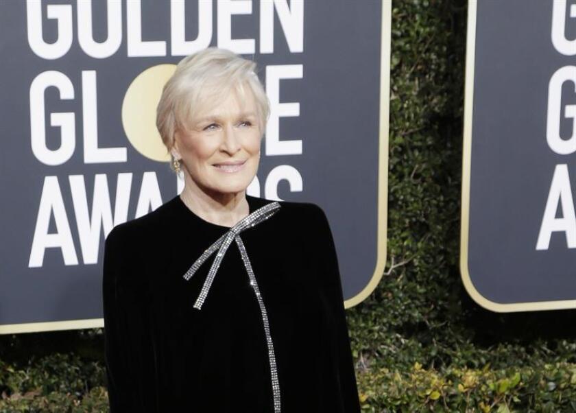 """La actriz estadounidense Glenn Close fue registrada este domingo a su llegada a la ceremonia de entrega 76 de los premios Globos de Oro, en Beverly Hills (California, EE.UU.). Close ganó el premio Globo de Oro a la mejor actriz de drama por """"The Wife"""". EFE"""