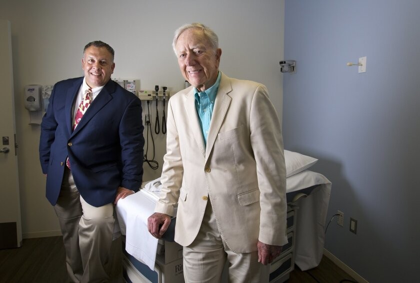 Dr. David Bazzo (left) and Dr. Leonard Glass have collaborated on a new program that seeks to retrain retired medical specialists to work part-time in primary care.