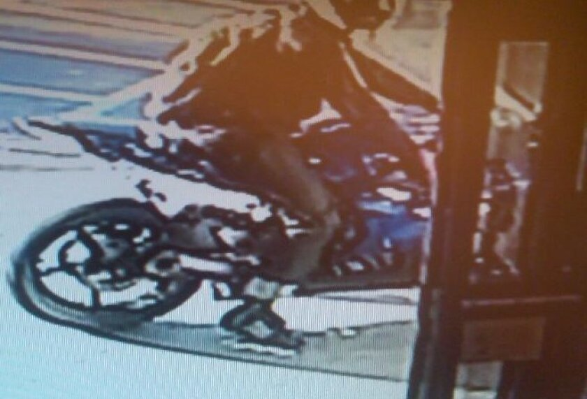 The robber fled on a motorcycle. / FBI