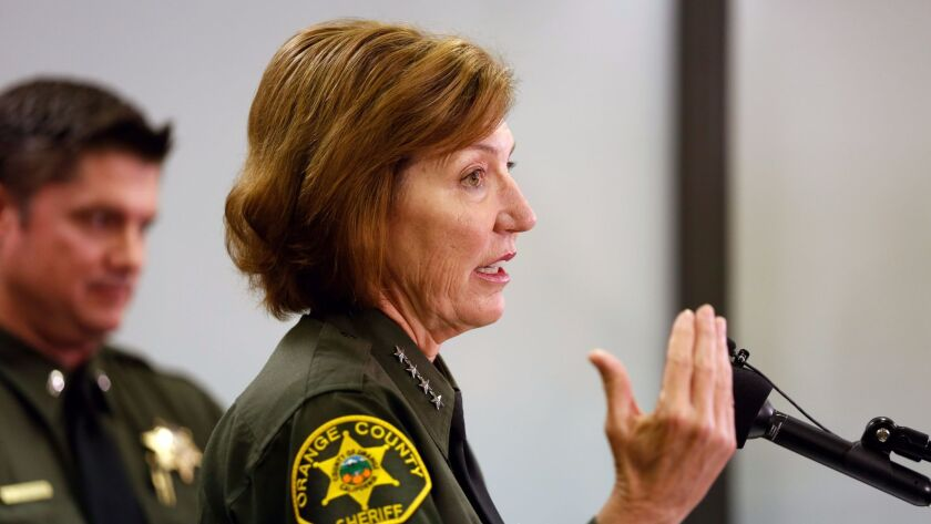 Orange County Sheriff Sandra Hutchens has announced that she will not seek reelection. Her term will end January 2019.