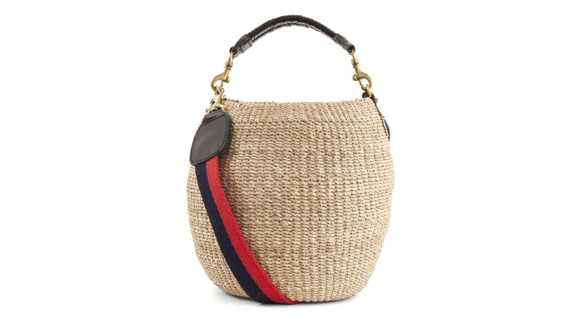 LA favorite Clare V has added a new style to her popular woven collection with the adorable Pot de M