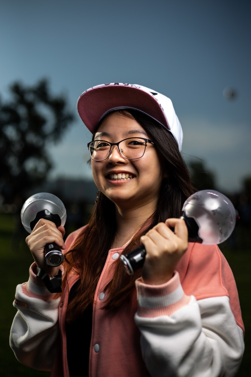 PASADENA, CALIF. - MAY 04: Joleen Le, 22, of San Diego, poses for a portrait before heading into The