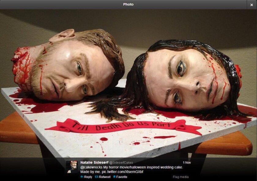 A killer wedding cake