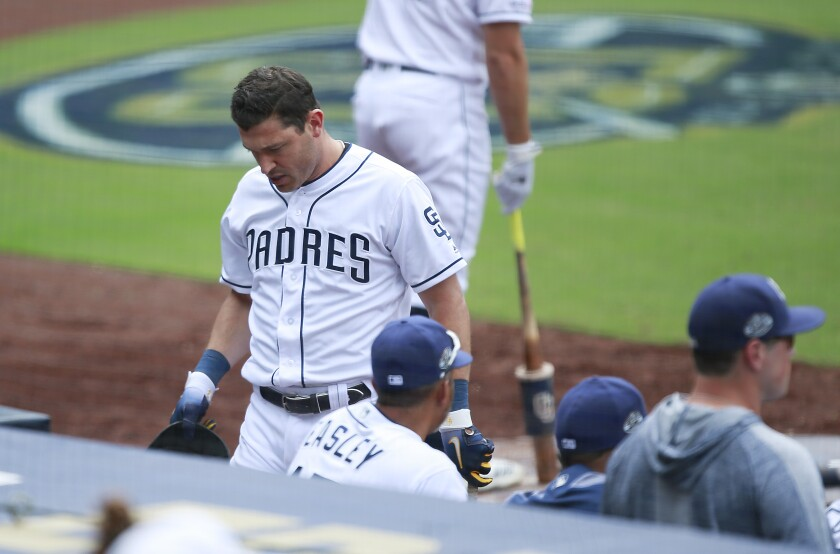 The Padres scored four of their five runs on home runs Wednesday during a 7-5 loss to the Phillies.