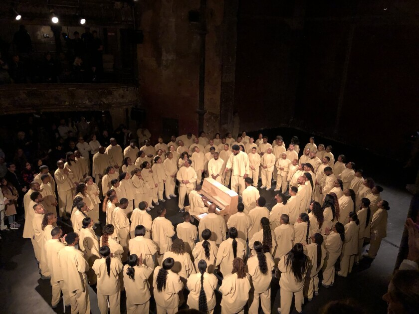 Kanye West presents Sunday Service in Paris