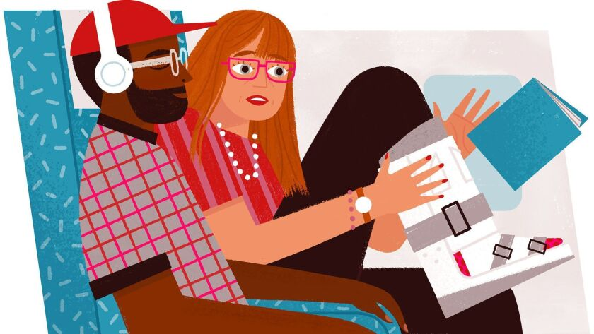 Illustration for Catharine Hamm's Travel column about her new year travel resolution (Loris Lora / f