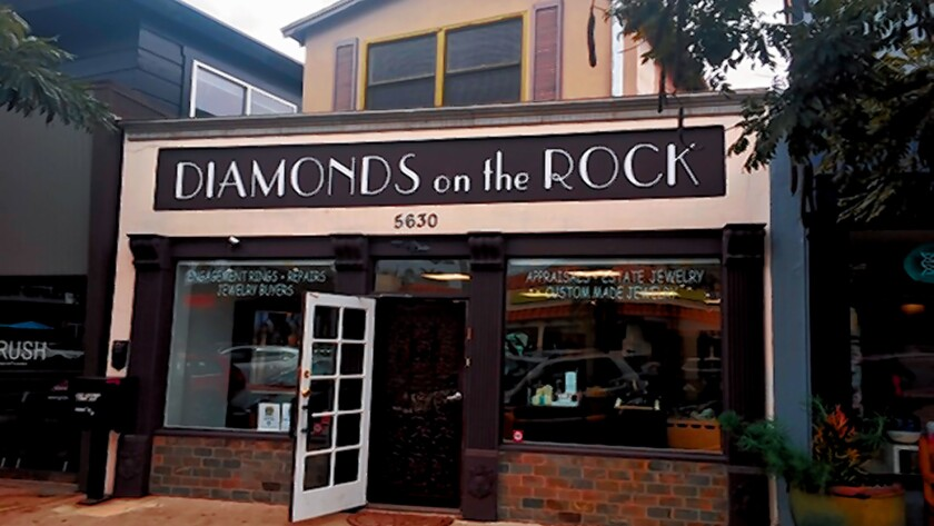 Diamonds on the Rock is at 5630 La Jolla Blvd., La Jolla. (858) 750-2190. diamondsontherock.com