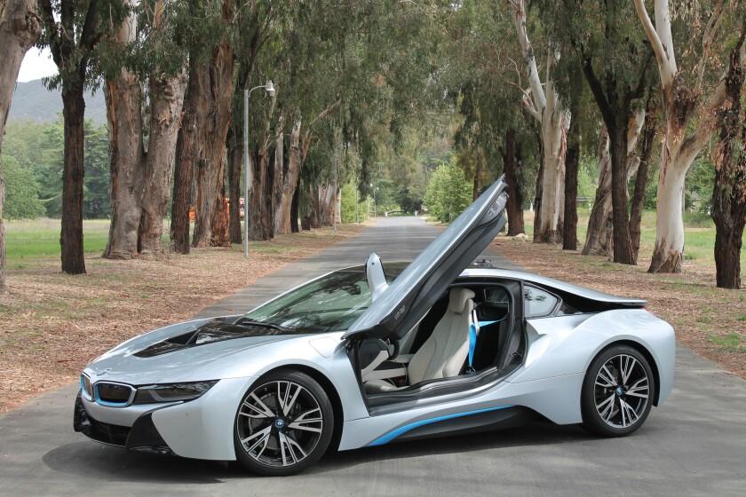 The BMW i8 plug-in hybrid.